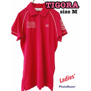 ティゴラ(TIGORA)のTIGORA ティゴラ ポロシャツ 半袖 ゴルフ ピンク トップス ウェア(ウエア)