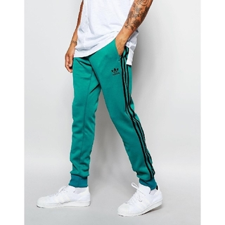 adidas - スーパースター カフ トラックパンツ エメラルドグリーン 深緑 ジャージ レア