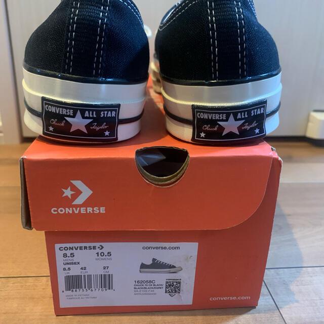 CONVERSE(コンバース)のCT70 ブラック Chuck Taylor 70 US8.5 27cm メンズの靴/シューズ(スニーカー)の商品写真