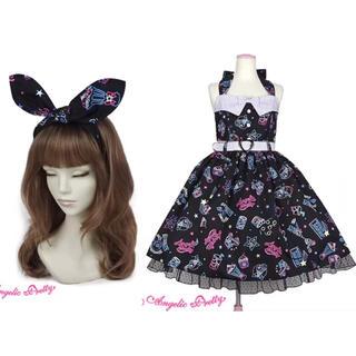 Angelic Pretty - Neon Star Dinerジャンパースカートとヘアバンド2点セット