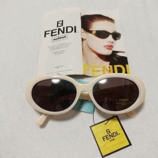 フェンディ(FENDI)のFENDI サングラス アイボリー 白(サングラス/メガネ)