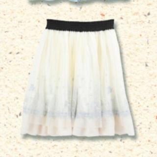 アクシーズファム(axes femme)のリトルマーメイド 刺繍チュールスカート axes femme(ミニスカート)