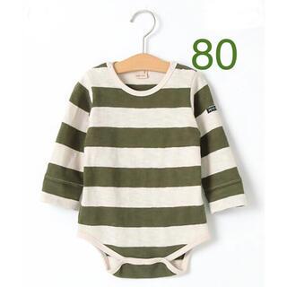 petit main - 【petit main】プティマイン ロンパース 長袖 80