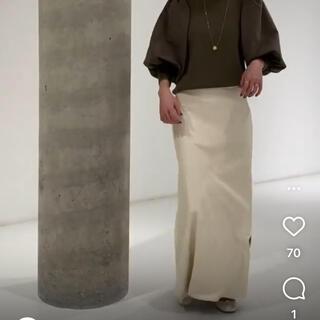 ルージュヴィフラクレ(Rouge vif la cle)のrougeviflacle レザースカート(ロングスカート)
