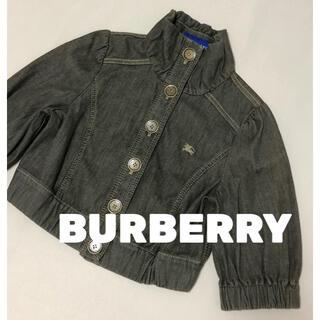 バーバリー(BURBERRY)のバーバリー BURBERRY デニムジャケット ショートブルゾン 美品 38(ブルゾン)