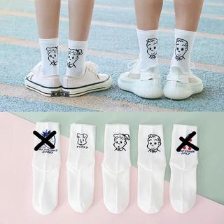 クツシタヤ(靴下屋)の3足♥韓国 白ソックス 靴下 オサムグッズ Osamu goods(キャラクターグッズ)