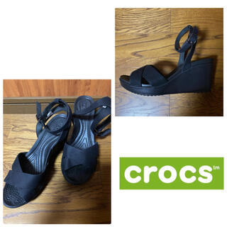 クロックス(crocs)の【crocs】クロックス♡ウェッジソールサンダル(サンダル)