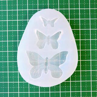 蝶 ちょうちょ 型 シリコンモールド バタフライ レジンクラフト用品(各種パーツ)