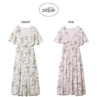 ジェラートピケ(gelato pique)のギフトモチーフ柄ドレス(ルームウェア)