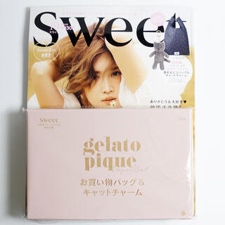 gelato pique - sweet 2020年10月号付録のみ エコバッグ キャットチャーム ジェラピケ