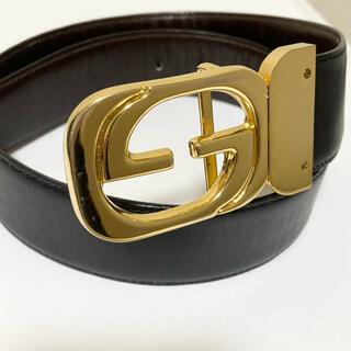 Gucci - リバーシブル オールド グッチ GG バックル ベルト 黒茶