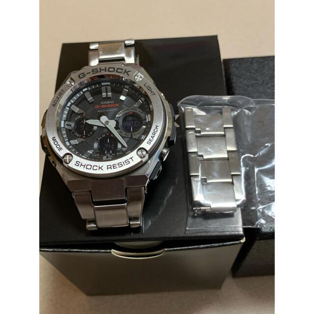G-SHOCK(ジーショック)のGショック 電波ソーラーGスチールGST-W110D-1A-JF クォーツ  メンズの時計(腕時計(アナログ))の商品写真