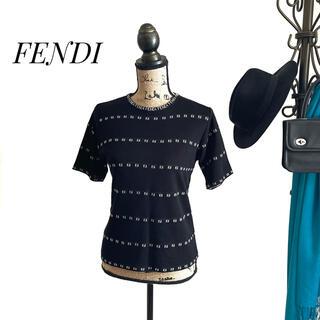 フェンディ(FENDI)のFENDI フェンディ セーター ブラック レディース 半袖(ニット/セーター)