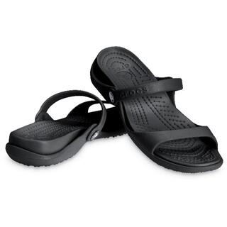 クロックス(crocs)の22cm crocs クロックス クレオ Cleo Black ブラック W6(サンダル)