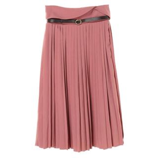 メゾンドフルール(Maison de FLEUR)のcanone ベルト付きプリーツスカート(ロングスカート)