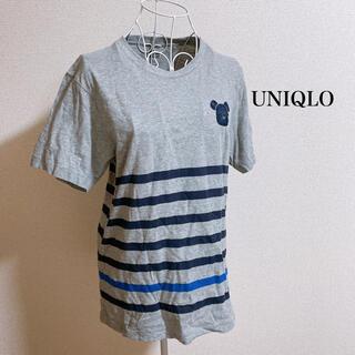ユニクロ(UNIQLO)のベアブリックTシャツ ボーダー(Tシャツ/カットソー(半袖/袖なし))
