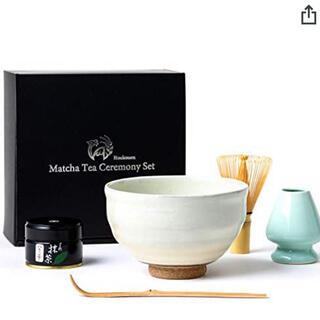 芳香園 茶道具 お抹茶6点セット 星野園製抹茶 抹茶茶碗 茶筅  茶杓 粉引茶碗