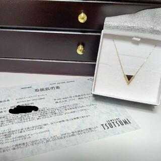 JEWELRY TSUTSUMI - K10 イエローゴールド オニキス ネックレス
