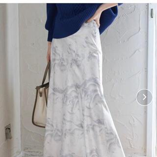 ヴィス(ViS)の【新品・未使用】VISマーブル柄ロングスカート♡(ロングスカート)