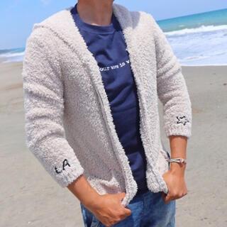 ロンハーマン(Ron Herman)の正規品☆LUSSO SURF LA刺繍ボアパーカー Mサイズ☆ベアフット(パーカー)