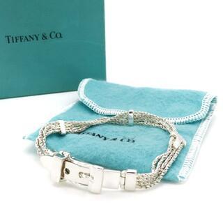 ティファニー(Tiffany & Co.)の希少 ヴィンテージ ティファニー ベルト T ナロー ブレスレット CC44(ブレスレット)