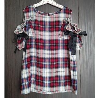 トッコ(tocco)のTOCCO 肩リボン カットソー(シャツ/ブラウス(半袖/袖なし))