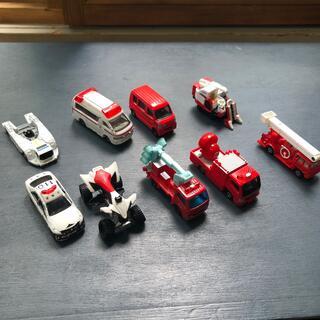 トミー(TOMMY)のトミカ 働く車 消防車 救急車 パトカー など9台(ミニカー)