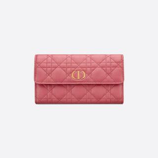 ディオール(Dior)のDIOR CARO ウォレット 財布 長財布 新作 新品未使用(財布)