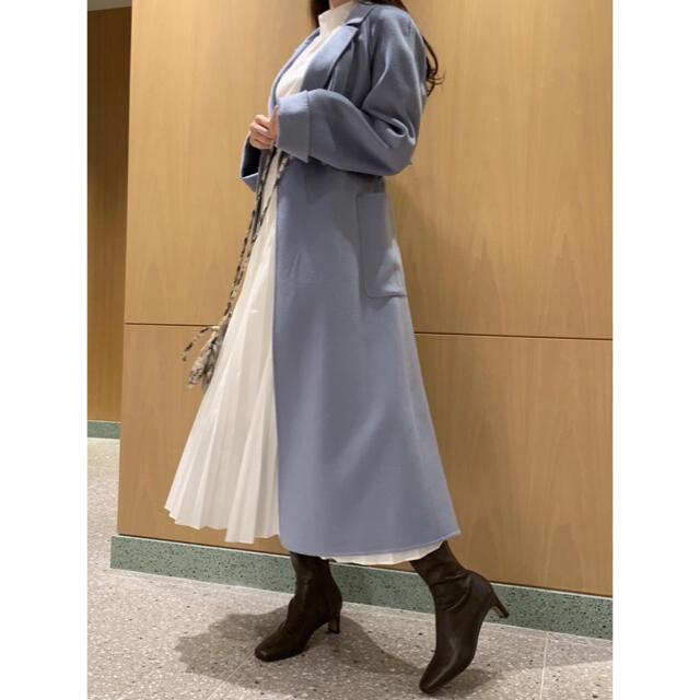 snidel(スナイデル)のSNIDEL スナイデル うろこカシミアコート レディースのジャケット/アウター(ロングコート)の商品写真