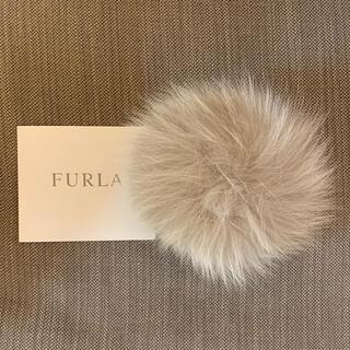 Furla - 美品 保証書あり フルラ ファーチャーム グレージュ