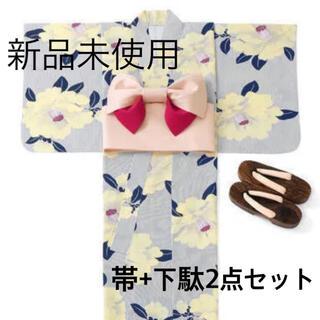 グレイル(GRL)の【新品未使用】つくり帯 下駄 2点セット ピンク GRL(浴衣帯)