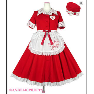 Angelic Pretty - ミルクシェイクワンピース フルセット 赤