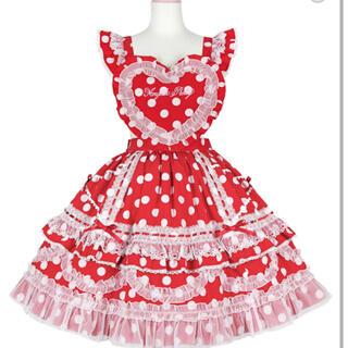 Angelic Pretty - Heart胸あて付スカート(ドット)