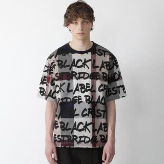 ブラックレーベルクレストブリッジ(BLACK LABEL CRESTBRIDGE)の今期 ブラックレーベル クレストブリッジチェックロゴプリントT Tシャツ(Tシャツ/カットソー(半袖/袖なし))