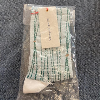 mina perhonen - ミナペルホネン ソックス taba 靴下 新品