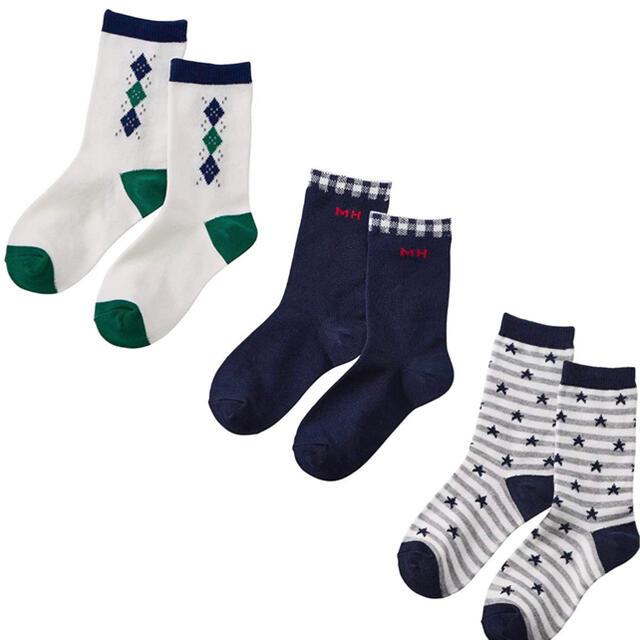 新品 ミキハウス 靴下 ソックスパック 17-19 キッズ/ベビー/マタニティのこども用ファッション小物(靴下/タイツ)の商品写真