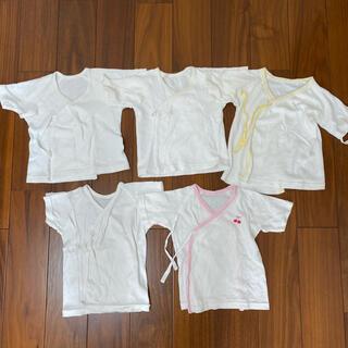 コンビミニ(Combi mini)の新生児肌着 短肌着 5枚セット まとめ売り 赤ちゃん ベビー(肌着/下着)