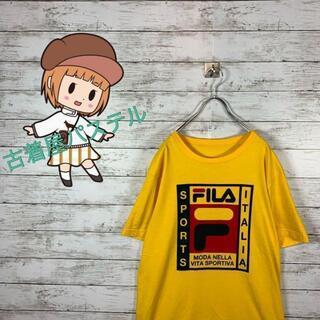 フィラ(FILA)の【人気】フィラ Tシャツ デカロゴ プリントロゴ ビックサイズ オーバーサイズ(Tシャツ/カットソー(半袖/袖なし))