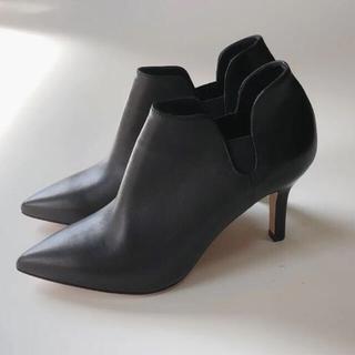 ペリーコ(PELLICO)の新品 PELLICO サイドゴアショートブーツ ブーティ ブラック 35(ブーツ)