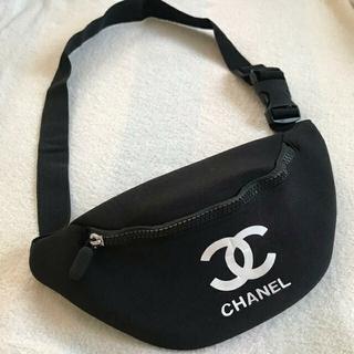 CHANEL - CHANEL シャネル ノベルティ ウエストポーチ ショルダーバッグ 黒