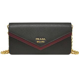 PRADA -  極美品★プラダ バッグ チェーンウォレット 財布 サフィアーノ 黒 J4404