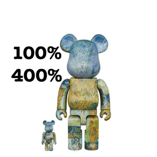 MEDICOM TOY(メディコムトイ)のBE@RBRICK ゴッホ展 Van Gogh  100%&400% エンタメ/ホビーのフィギュア(その他)の商品写真