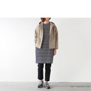ニコアンド(niko and...)のniko and 別注 ORCIVAL ボーダー コクーン ワンピース(ひざ丈ワンピース)