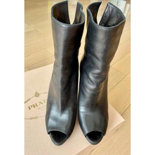 プラダ(PRADA)の正規、美品 プラダ ミドルブーツ 23.5〜24cm(ブーツ)