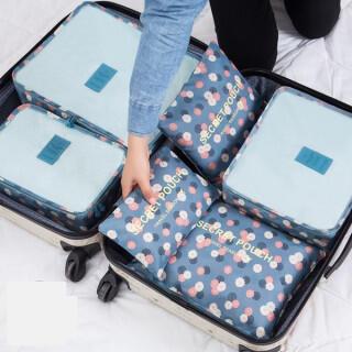 6点セットトラベルポーチ スーツケース 収納 旅行 バッグインバッグ 整理 便利(旅行用品)