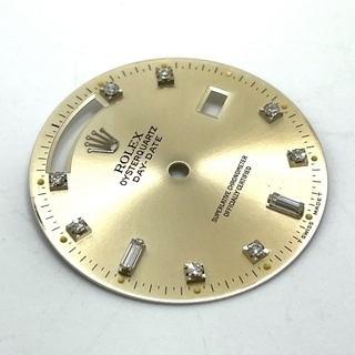 ロレックス(ROLEX)の美品 ロレックス 10Pダイヤ デイデイト オイスタークオーツ用 交換用文字盤(腕時計(アナログ))