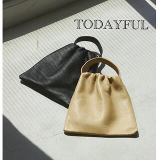 トゥデイフル(TODAYFUL)の完売!Leather Square Bag ブラック TODAYFUL(ハンドバッグ)