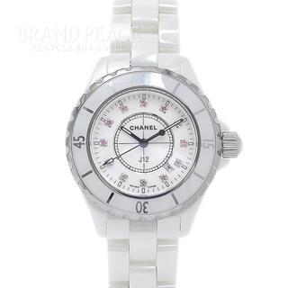 シャネル(CHANEL)のシャネル J12 33mm レディース ホワイトセラミック ピンクサファイア ク(腕時計)