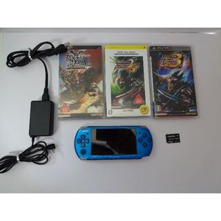SONY - PSP3000本体+モンハンソフト3本付き