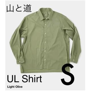 山と道 ul shirt light olive S ライト オリーブ UL